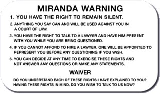 NJ Miranda warnings need NJ lawyer new jersey mirandize mirandized